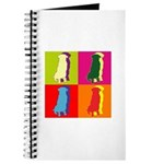 German Shepherd Silhouette Pop Art Journal