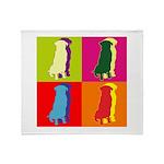 German Shepherd Silhouette Pop Art Throw Blanket