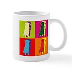 Golden Retriever Silhouette Pop Art Mug
