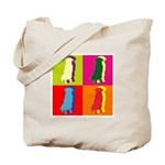 German Shepherd Silhouette Pop Art Tote Bag