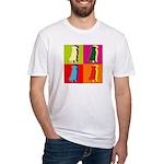 Golden Retriever Silhouette Pop Art Fitted T-Shirt