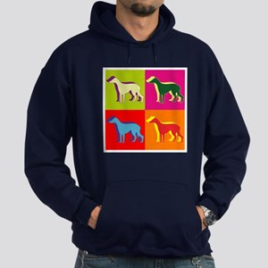 Greyhound Silhouette Pop Art Hoodie (dark)