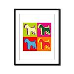 Fox Terrier Silhouette Pop Art Framed Panel Print