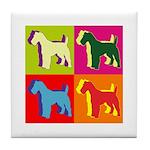 Fox Terrier Silhouette Pop Art Tile Coaster