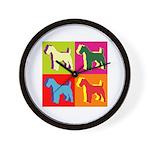 Fox Terrier Silhouette Pop Art Wall Clock