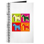 Fox Terrier Silhouette Pop Art Journal