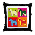 Fox Terrier Silhouette Pop Art Throw Pillow
