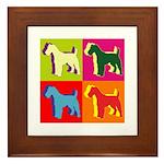 Fox Terrier Silhouette Pop Art Framed Tile