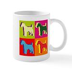 Fox Terrier Silhouette Pop Art Mug