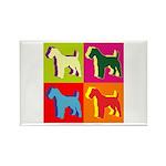 Fox Terrier Silhouette Pop Art Rectangle Magnet (1