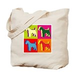 Fox Terrier Silhouette Pop Art Tote Bag