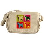 Fox Terrier Silhouette Pop Art Messenger Bag