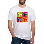 Fox Terrier Silhouette Pop Art Fitted T-Shirt