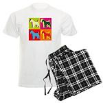 Fox Terrier Silhouette Pop Art Men's Light Pajamas