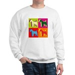 Fox Terrier Silhouette Pop Art Sweatshirt