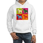 Fox Terrier Silhouette Pop Art Hooded Sweatshirt