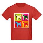 Fox Terrier Silhouette Pop Art Kids Dark T-Shirt