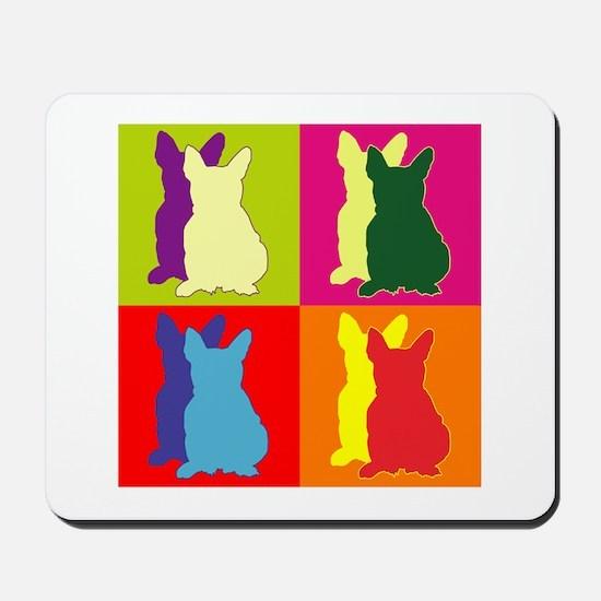 French Bulldog Silhouette Pop Art Mousepad