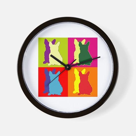 French Bulldog Silhouette Pop Art Wall Clock