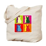 French Bulldog Silhouette Pop Art Tote Bag