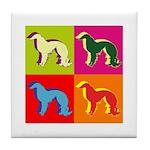 Irish Setter Silhouette Pop Art Tile Coaster
