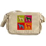 Irish Setter Silhouette Pop Art Messenger Bag