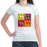 Irish Setter Silhouette Pop Art Jr. Ringer T-Shirt