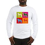 Irish Setter Silhouette Pop Art Long Sleeve T-Shir