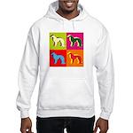 Irish Setter Silhouette Pop Art Hooded Sweatshirt