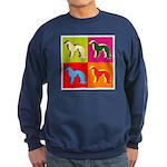 Irish Setter Silhouette Pop Art Sweatshirt (dark)