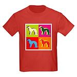 Irish Setter Silhouette Pop Art Kids Dark T-Shirt