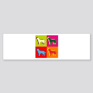 Labrador Retriever Silhouette Pop Art Sticker (Bum