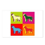 Labrador Retriever Silhouette Pop Art Postcards (P