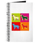 Labrador Retriever Silhouette Pop Art Journal