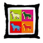 Labrador Retriever Silhouette Pop Art Throw Pillow