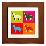 Labrador Retriever Silhouette Pop Art Framed Tile