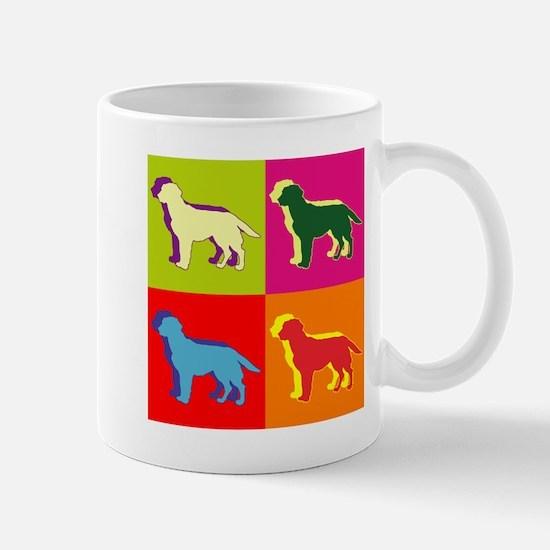 Labrador Retriever Silhouette Pop Art Mug