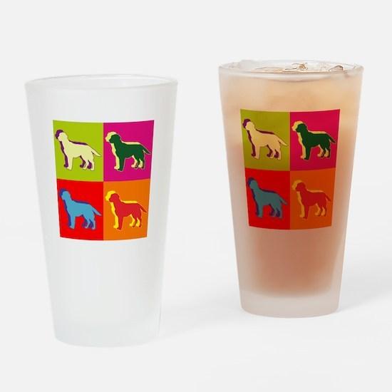 Labrador Retriever Silhouette Pop Art Drinking Gla