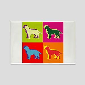 Labrador Retriever Silhouette Pop Art Rectangle Ma