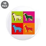 Labrador Retriever Silhouette Pop Art 3.5