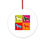 Labrador Retriever Silhouette Pop Art Ornament (Ro