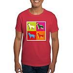 Labrador Retriever Silhouette Pop Art Dark T-Shirt