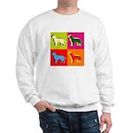 Labrador Retriever Silhouette Pop Art Sweatshirt