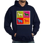 Labrador Retriever Silhouette Pop Art Hoodie (dark