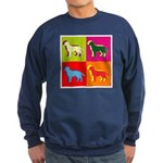 Labrador Retriever Silhouette Pop Art Sweatshirt (