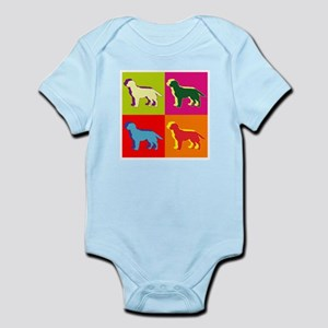 Labrador Retriever Silhouette Pop Art Infant Bodys