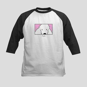 Anime Poodle Kids Baseball Jersey