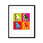 Pitbull Terrier Silhouette Pop Art Framed Panel Pr