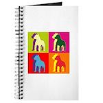 Pitbull Terrier Silhouette Pop Art Journal