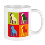 Pitbull Terrier Silhouette Pop Art Mug